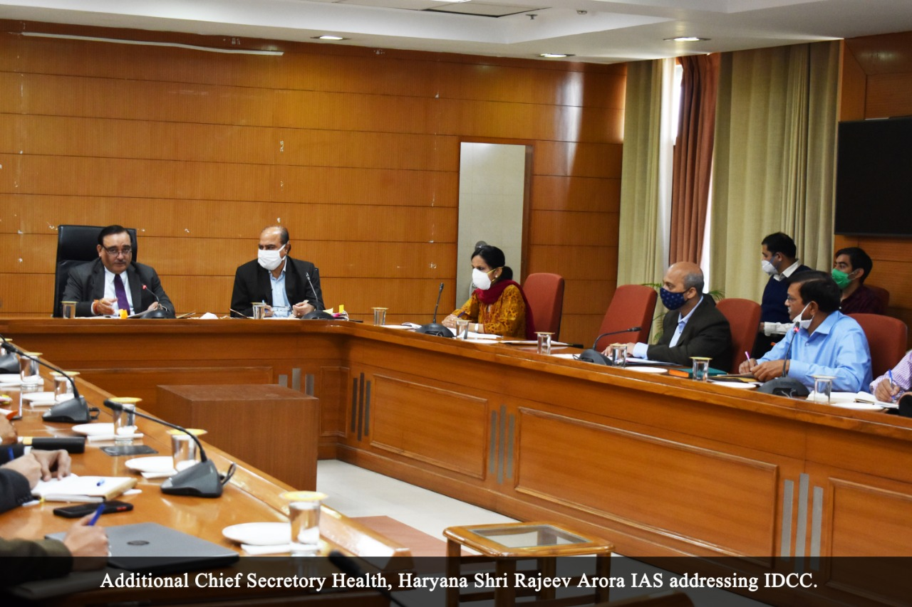 IDCC meeting held under the chairmanship of ACS, Health, Sh. Rajeev Arora, Chief Registrar, Births and Deaths, Dr. Suraj Bhan Kamboj, Director Census Ms Prerna Puri, IAS, and DRG, CRS Ms Sandhya Singh also participated in the meeting