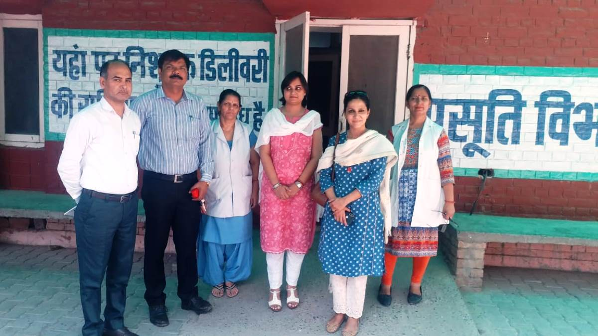 Civil Registration System (CRS) Inspection at Community Healthcare Centre(CHC) located in Radaur town of District Yamunanagar, Haryana by Director Census Operations, Haryana