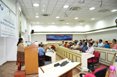 Director DCO Haryana addressing the master trainers during the Inaugural session