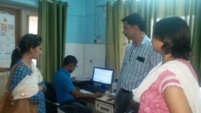 Director, DCO Haryana along with the staff of Community Healthcare Centre, Radaur, Yamunanagar, Haryana.