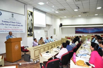 Deputy Director DCO  Haryana addressing the master trainers during the Inaugural session