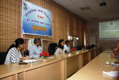 Monthly Rajbhasha Workshop being headed by the Director, DCO Haryana