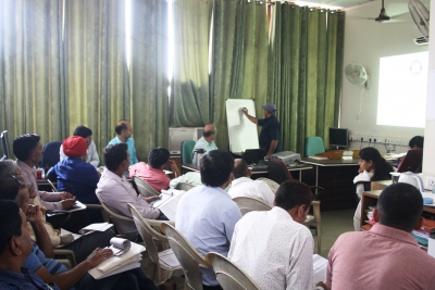 Participants practicing training skills as preparation of Census 2021 Pre-Test