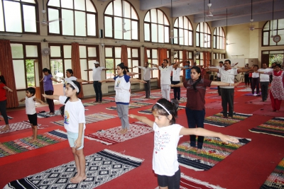Yoga for health: Group yoga event orgnised by DCO Haryana on occasion of 5th International Yoda Day (i.e. 21.06.2019)