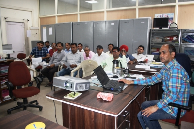 Master Trainers imparting training to staff of DCO for Census 2021 Pre-Test